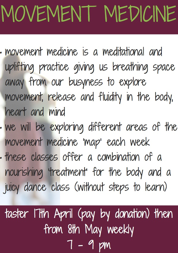 movement medicine, wellbeing, heart body mind, weekly class, cardiff, chapter arts